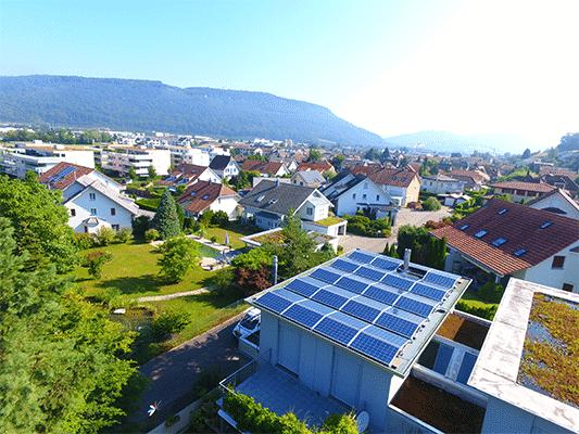 Referenzen, Rothrist | Flachdach | Kunz Solartech
