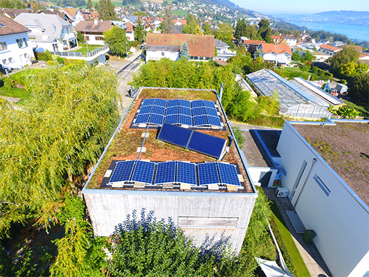 Referenzen, Beinwil | Flachdach | Kunz Solartech