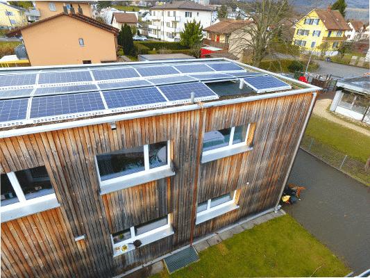 Referenzen, Dulliken | Flachdach | Kunz Solartech