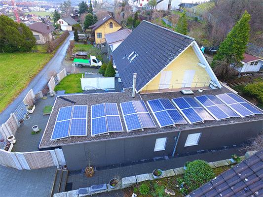 Solaranlage Ost-West Suntech Power & Solventure SolarEdge optimiert ohne SolarSpeicher