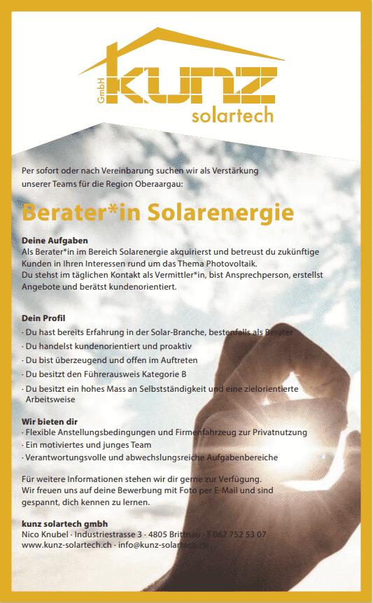 Jobs - image Beraterin-Solarenergie on https://kunz-solartech.ch